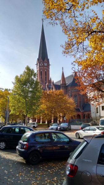 die 1888 fertiggestellte Heilandskirche im Neogotischen Stil