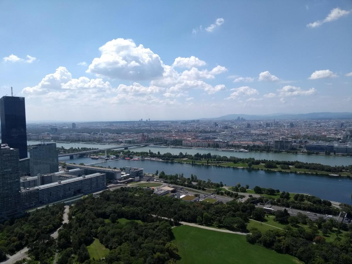 Aussicht auf die Wiener Skyline