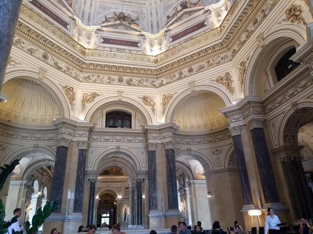 Innenansicht der Kuppel des Naturhistorischen Museums