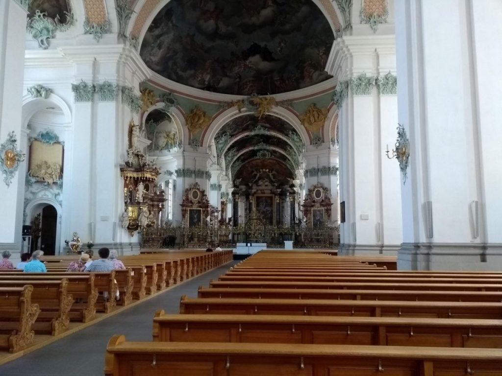 Innenraum der Stiftskirche St. Gallen