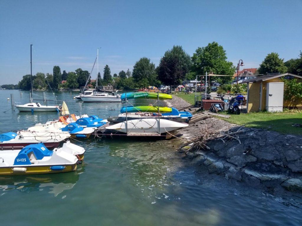 Hafen und Strandbad in Nonnenhorn