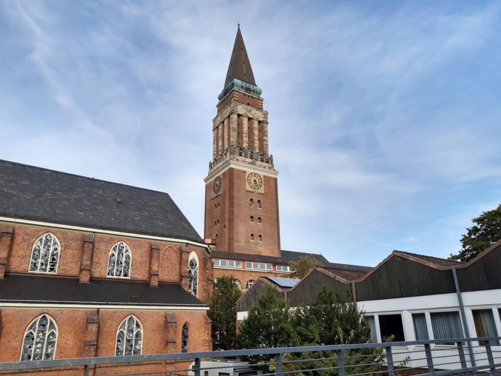 Rathaus in Kiel in Backsteinoptik